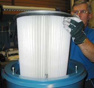 Filter to central vacuum systems from Dustcontrol